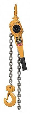 Lever Chain Hoist, 6000 lb. Load Capacity, 10 ft. Hoist Lift, 1-5/16\