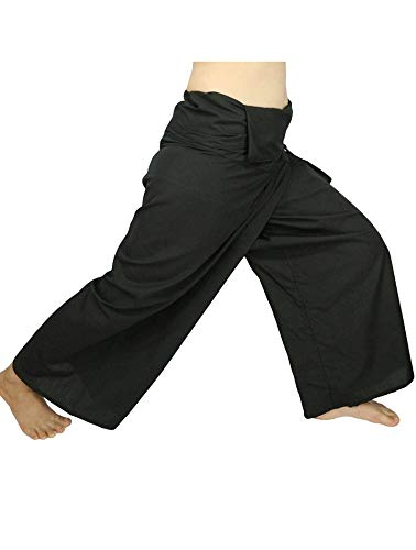 Lovely Creations Jumbo Size Man Women Thai Fisherman Wrap Pants Toray Wild Leg Baggy Yoga Casual Trousers Waist 60