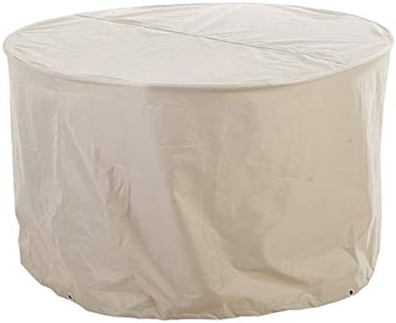 WUFENG Funda Protectora Muebles Jardín Cubierta Exterior Impermeable Redondo Al Aire Libre Sofá Estuche Protector, 2 Tallas (Color : Blanco, Tamaño : 125x125x75cm): Amazon.es: Jardín