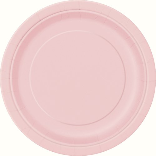 Light Pink Paper Cake Plates