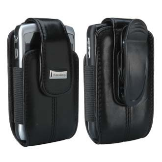 Blackberry OEM Leather Case Holster with Swivel Clip for Blackberry Curve 8300 8310 8320 8330 (Black) Blackberry 8300 Curve Leather
