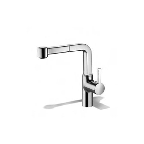 KWC Faucets 10.191.003.127 AVA Pull Out Semi Kitchen Faucet, Splendure Stainless ()