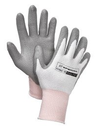 North by Honeywell PF570-L Honeywell Pure Fit PF570 FLX Cut HPPE Polyurethane Palm Coated Gloves - Cut Level 4, Gray, Large
