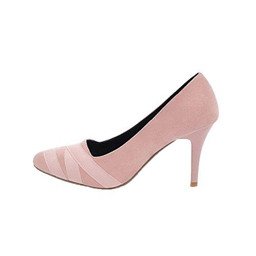 Chaussures L Agoolar Couleur Pointu Tire Femme Unie wPnqxvfX7