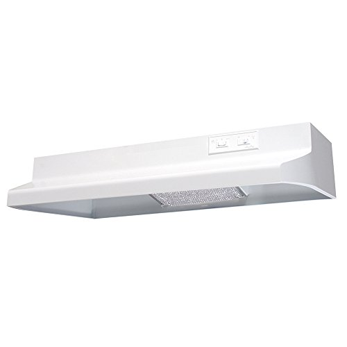 (Air King AX1303 Advantage X Series Under Cabinet Range Hood with 2-Speed Blower and 160-CFM, 6.5-Sones, 30-Inch Wide, White Finish)
