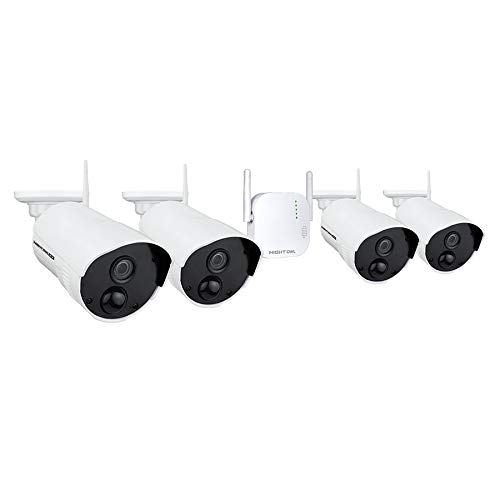 Night Owl Security 4 Channel 1080p HD Wireless Gateway with 16GB microSD Card and 4 Indoor/Outdoor Cameras
