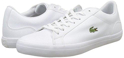 Lerond Chaussures 1 Bl Hommes Lacoste Cuir Formateurs Cam Blanc dx1wq6q8O