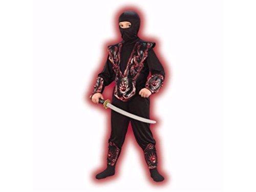 Boys Red Ninja Fighter Halloween Costume Large 10-12 (Walmart Boys Costumes)