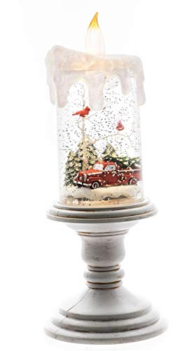 Oak Street Christmas Cardinal Red Truck Spinning Glitter 10''x3.8'' Candle Battery Operated by Oak Street Wholesale