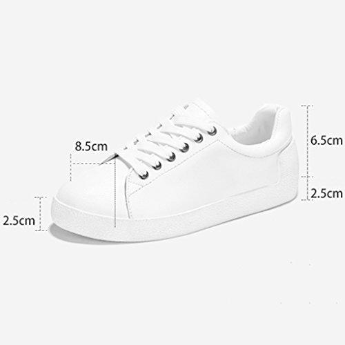 Sportschuhe größe Damenschuhe 36 Damenschuhe Weiß Weiße Frau Frühling HWF Schuhe Freizeitschuhe Flache Farbe Einfache I461qFxw