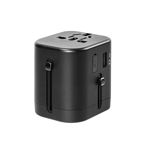 Travel Adapter, IKOCO Worldwide All in One Universal Power Converters with 4.5A Quad USB Fast Charging Ports International Travel Charger Wall AC Power Plug Adapter Wall Charger for Cell Phone Laptop by IKOCO (Image #1)