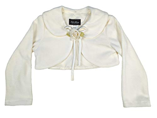 Cozy Long Sleeve Bolero Jacket Cover - Ivory Girl 5/6