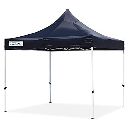 Pop Up Canopy Tent >> Goutime 10x10 Ft Pop Up Canopy Outdoor Instant Canopy Tent Waterproof Ez Up Shelter For Beach Backyard Tailgate Party Black
