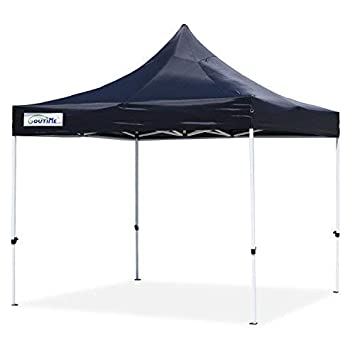 buy online e9b8e 64840 Goutime 10x10 Ft Pop Up Canopy, Outdoor Instant Canopy Tent, Waterproof Ez  Up Shelter for Beach, Backyard, Tailgate, Party (Black)