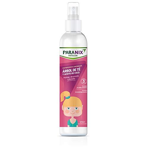 Paranix | Proteccion Arbol de Te Nina | Con Ingredientes Naturales | Arbol de Te y Aceite de Coco | Protege, Desenreda y da Brillo al Cabello | 250 ml