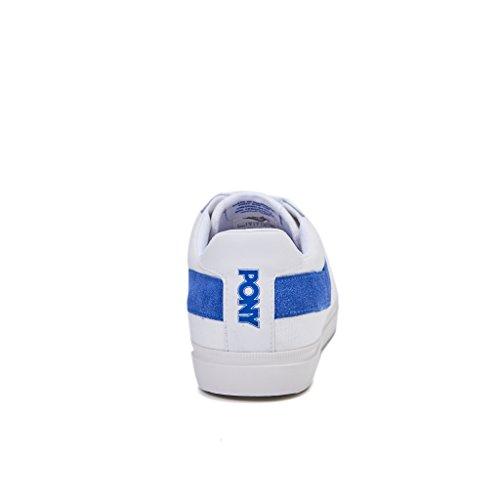 sneakers uomo bassa PONY TOP STAR CANVAS colore bianco/blu