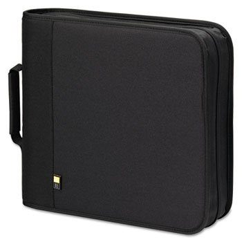 Case Logic Products - Case Logic - CD/DVD Expandable Binder, Holds 208 Disks, Black - Sold As 1 Each - Store your favorite CDs and DVDs. - Durable nylon exterior. - Protective polypropylene ProSleeves. - Expandable capacity. -