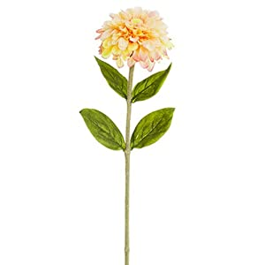 "29"" Zinnia Silk Flower Stem -Peach (Pack of 12) 31"