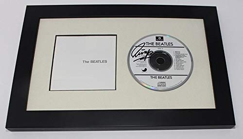 The Beatles White Album Ringo Starr Signed Autographed Music Cd Compact Disc Cover Framed Display Loa