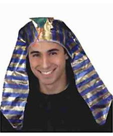 [Jacobson Hat Company Men's Deluxe Metallic Pharaoh Headpiece, Multicolor, Adult] (Ancient Egypt Costumes)