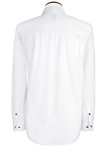 Spieth & Wensky - Slim Line - Herren Trachten Hemd mit Kent Kragen in weiss, einfarbig (009238-0200), Größe:43/44(XL);Farbe:Weiß (2014 )
