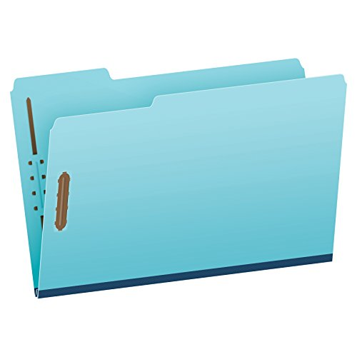 Pendaflex Pressboard Fastener Folders, Legal Size, Light Blue, 1