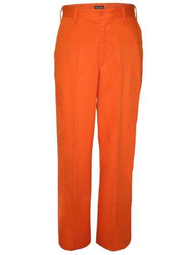 Walls Mens Work Flat Front Pants Unhemmed Orange at Amazon Men's ...