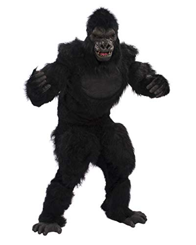 Zagone Studios Go-Rilla Costume Kit with Gloves, Shirt, Pants and Feet Black