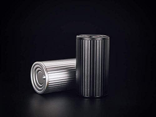 葉巻灰皿, 蓋10.5x6cmと灰のふたが付いている車のアルミ合金の車の灰皿創造的な内部車の個性(色:黒)、カラー:シルバー (Color : Silver)