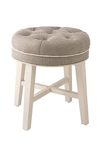 Amazon Com Hillsdale Furniture Sophia Vanity Stool Linen