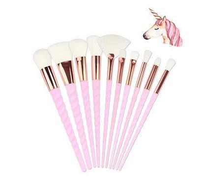Makeup Brushes Set,Aibay 10PCS Unicorn Makeup Foundation Eyebrow Eyeliner,Cosmetic Conceler Brushes Kit