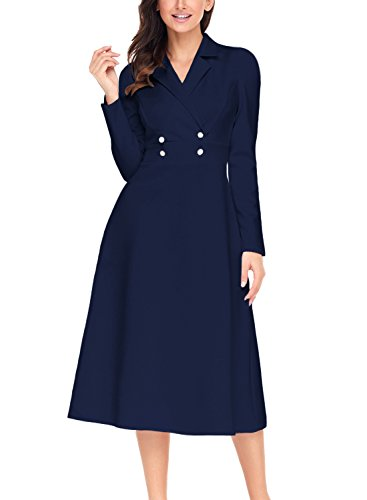 HOTAPEI Womens Vintage Sleeve Buttons