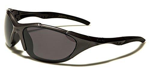 Sonnenbrille mit schwarzen Gläsern (Onesize) I5qyz