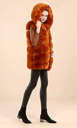 Jacket Folobe Faux Womens Darkbrown Adult Vest 'Soft twZwrqE4