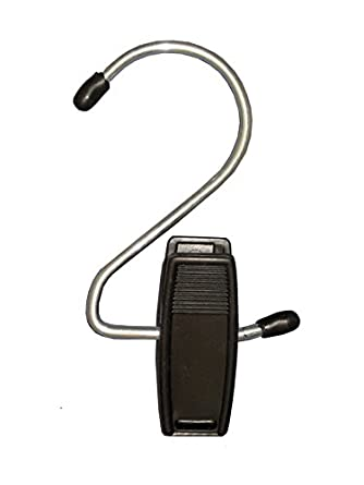 "NAHANCO 610B Hang-Alls Jaws Plastic Clip with Metal Hook, 4-1/2"", Black (Pack of 100)"