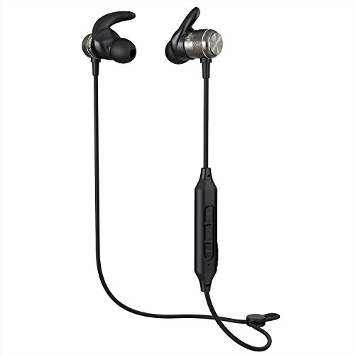 AUKEY Bluetooth Headphones, Magnetic Wireless Earbuds with 8 Hours Playtime and Built-in Microphone Compatible for iPhones, Samsung Phones, Tablets, and More