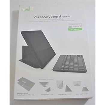 the latest 69f86 c9d41 Moshi VersaKeyboard Case for iPad Air 2 - iPad Bluetooth Keyboard and Case  - Metro Black