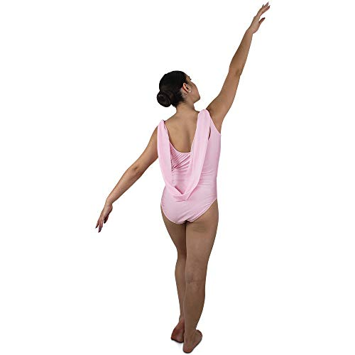 Mesh Draped - Lyrical dance costumes, back draped leotard with gathered mesh overlay, leotards for girls ballet, Choose your color, M L