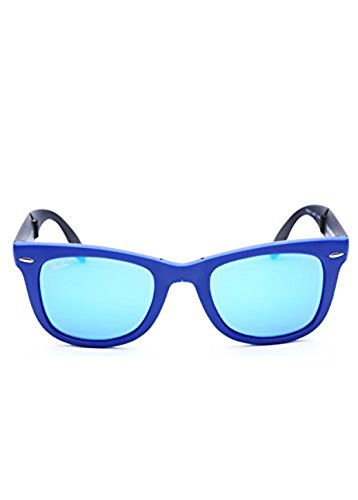 Ray-Ban Men's 0RB4105 Square Sunglasses,Matte Blue,50 mm