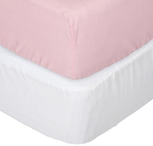 aBaby Crib Mattress Protector and Sheet Combo, Pink