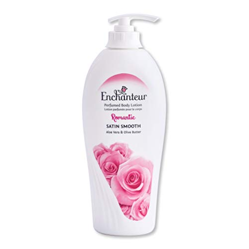 Enchanteur Romantic Perfumed Body Lotion 500ml with Aloe Vera Olive Butter for Silky Smooth Skin