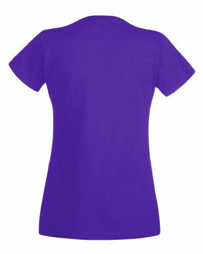 Fruit Of The Loom- Camiseta de manga corta Valueweight para mujer Small,Purple - Purple