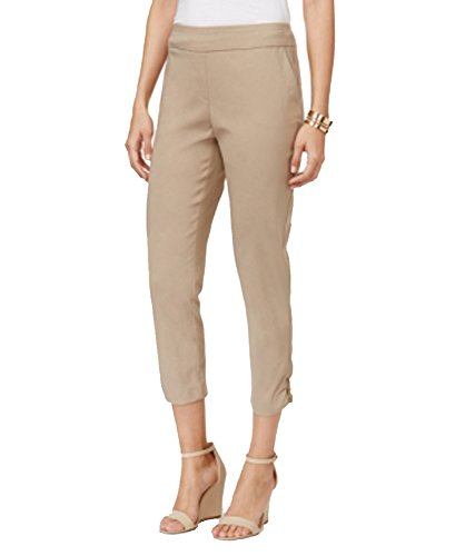 JM Collection Embellished Cropped Pants (Meadow Trail, XS)