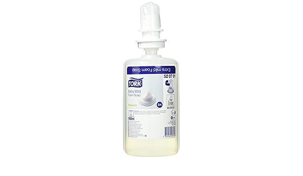 Tork 520701 Jabón en espuma extra suave / Jabón compatible con el sistema S4 / 1 litro / Neutro: Amazon.es: Industria, empresas y ciencia