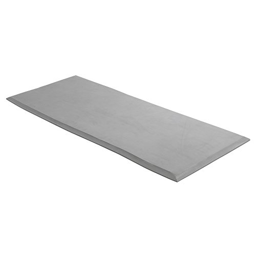 """Drive Medical Safetycare Beveled Edge Solid 1 Piece Fall Mat, 30"""", Gray"""