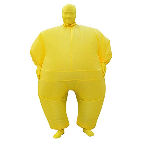 SIREN SUE Adult Inflatable Full Body Jumpsuit Cosplay Costume Halloween Blow Up for Party Toy Yellow]()