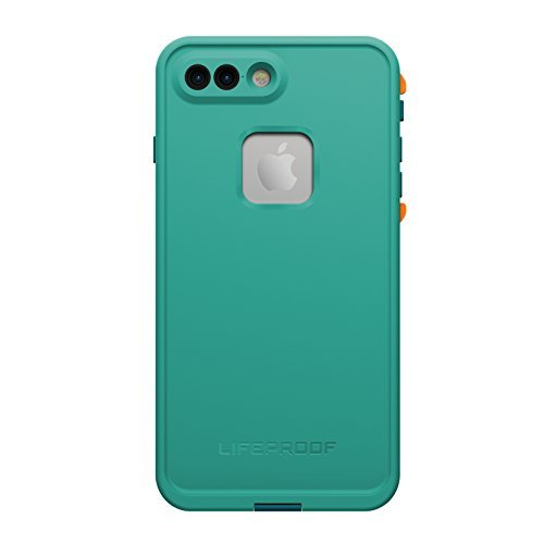 LifeProof 77-53998 FRE Series Waterproof Case for iPhone 7 Plus (ONLY) - Retail Packaging - Sunset Bay (Light Teal/Maui Blue/Mango Tango) by LifeProof
