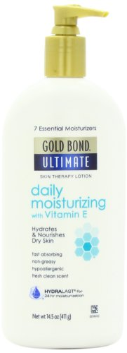 Gold Bond Ultimate Daily Moisturizing Lotion, 14.5 Ounce Body Lotion with Vitamin E for Glowing, Smooth Looking Skin