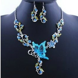 Viewred Fashion Acrylic Alloy Earring And Necklace Jewelry Sets (Size: 45, Color: Blue) (Alloy Acrylic)