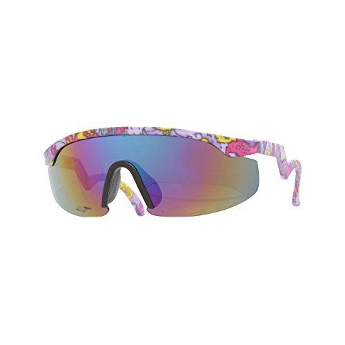 [House of Sunglasses Men's 80s Blend Aztec Frame Revo Lens 5.3cm Sunglasses] (80s Male Fashion)